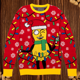 Mr. Peanut Holiday Lights Sweater