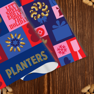 Planters Holiday Wrapping Paper