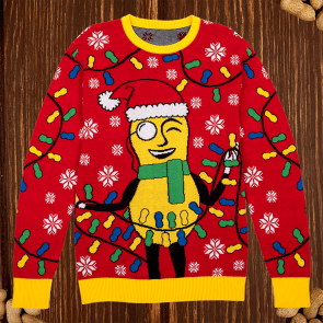Mr. Peanut Holiday Lights Sweater